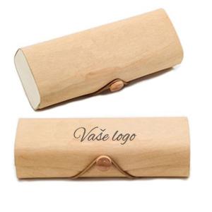 reklamní dřevěné dárkové krabičky na brýle s potiskem