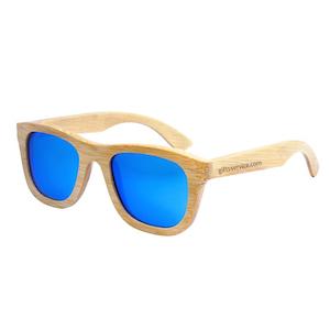 reklamní dřevěné sluneční brýle s potiskem